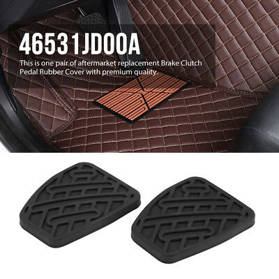 New Pair Brake Clutch Pedal Pad Rubber Cover for Nissan Qashqai 07-16 46531JD00A