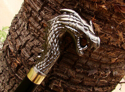 95 Cm Long Gentlemen's Classic Style Design Walking Stick Pewter Handle (Cm-143