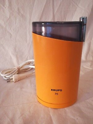 Kaffeemühle Krups 75 orange, vintage