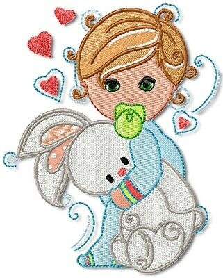BABY BOYS  10 MACHINE EMBROIDERY DESIGNS CD or USB