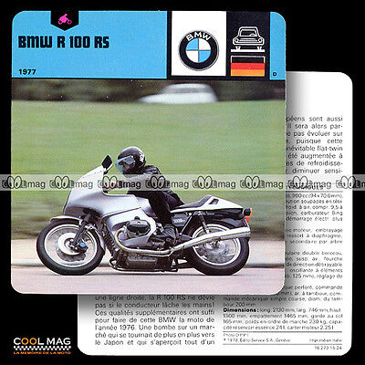 #15.24 BMW R 100 RS R100RS 1977 - Fiche Moto Motorcycle Card