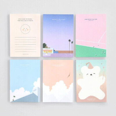 Lagom Cute A6 Paper Memo Pad Notepad Memo Sketch Art Study Book Scrapbook Marker