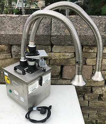 Purex Fumecube 2 Arm Outlet Fume Extractor With Pipes & Valves New Filter Fitted