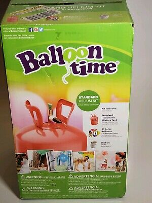 BALLOON TIME DISPOSABLE Helium Tank 30 Balloons included  *Factory Sealed*