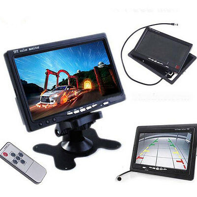"7"" TFT LCD Monitor + Wireless Auto Car Rear View Backup Camera Kit Night Vision"