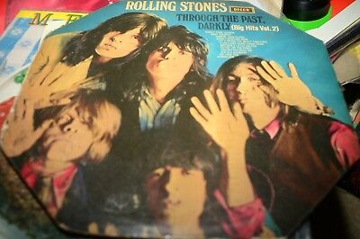 The Rolling Stones THROUGH THE PAST VINYL LP OZ PRESS UNBOXED DECCA 1969  stereo