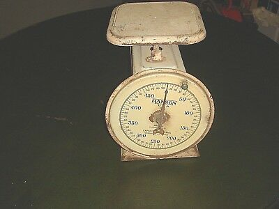 Vintage Antique Hanson Brothers  Kitchen  General Store Utility Metal Scale