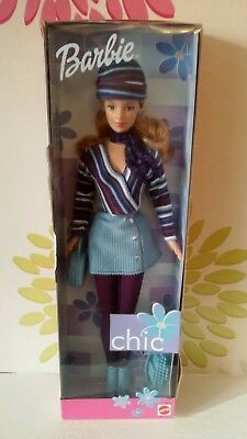 Barbie Chic Doll Blue Corduroy vintage 1999 New & Rare