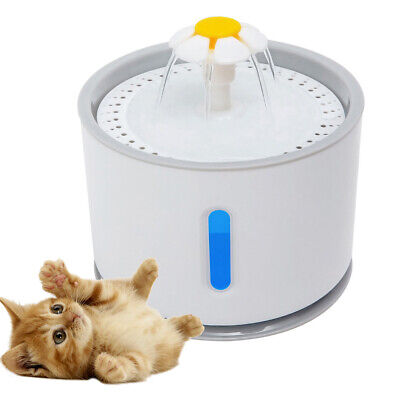 2.4L USB LED Automatic Electric Pet Water Fountain Cat/Dog Drinking Dispenser Nv