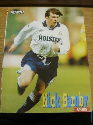 1992/1993 Autographed Magazine Picture: Tottenham Hotspur - Barmby, Nick. If thi