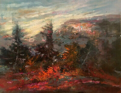 Vail Colorado  19 x 16 in.Original acrylic on panel Hall Groat Sr.
