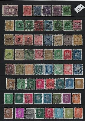 #3240   Small stamp set / GERMANY /  Nice mix 1920s & 1930s /  Pre Third Reich