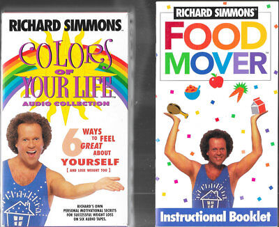 Richard Simmons Food Mover System Color of Your Life Lot Slim Sweat Live Love ID