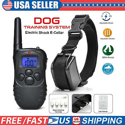 Remote LCD Pet Dog Training Collar Electric Shock Train Waterproof 330Yards New