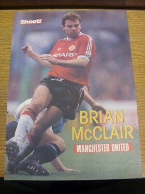 1991/1992 Autographed Magazine Picture: Manchester United - McClair, Brian (Shoo