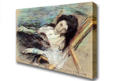 Charlotte Berend On A Stool By Lovis Corinth   Canvas XL (B1 26x40 inch) 02631