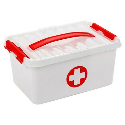 First Aid Storage Box Emergency Medical Survival Treatment Rescue Empty Box Heal