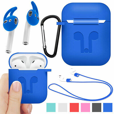 Silicone Ruggged Case Cover + Earbuds For Apple AirPods 2nd Gen Accessories 2019