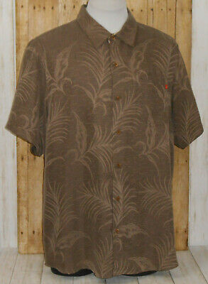 1a33a225 Toes On The Nose Hawaiian Camp Shirt Mens XL Short Sleeve Brown Floral