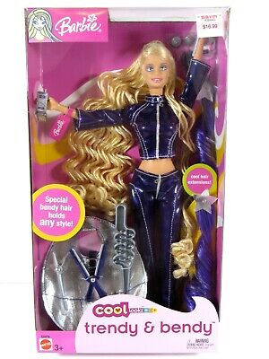 ** Nib Barbie Doll 2003 Cool Lookz Trendy & Bendy