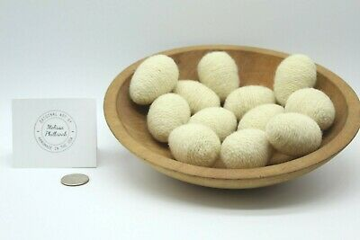 12 Prim Natural White Egg Needle Felted Folk Art Bowl Fillers Melissa Philbrook