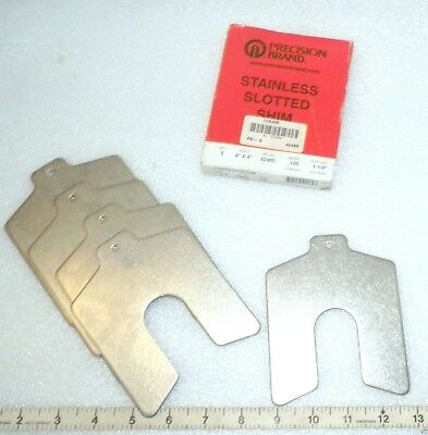 """new 5-pack Slotted Shim Decimal Series Stainless new unused 4"""" x 4"""""""