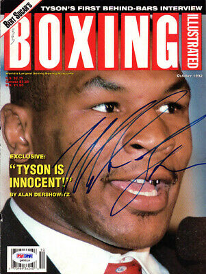 Mike Tyson Autographed Signed Boxing Illustrated Cover Vintage PSA #Q65518