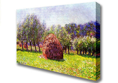 Monet Heap Of Hay In The Field Classic Artists Canvas  A2 Size 03117
