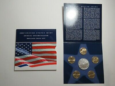 2007 US Mint Annual Uncirculated Dollar Coin Set - 2007-W American Silver Eagle