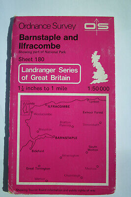 Ordnance Survey Map Sheet 180 Barnstaple & Ilfracombe 1:50 000 Landranger Series