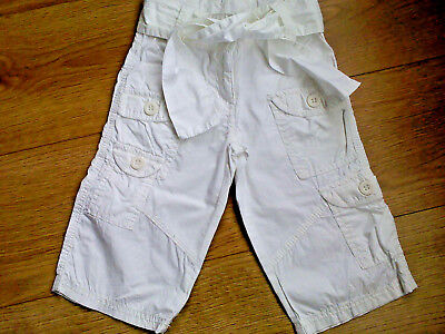 Girls White Cropped (3/4 Leg) Shorts - 3 Years (Excellent Condition) NEXT