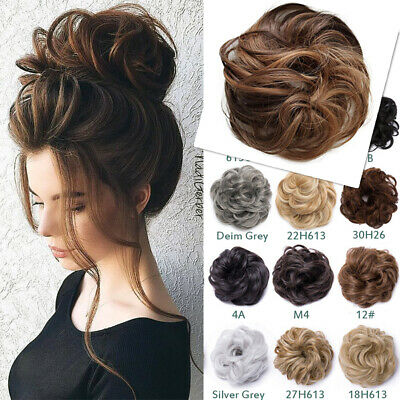 THICK Messy Bun Hair Piece Scrunchie REAL Natural Hair Extension For Human Updo