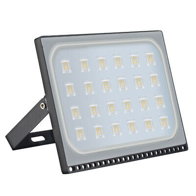 150W Slim LED Floodlight Security Outdoor Garden Flood Lamp Warm White IP65 UK