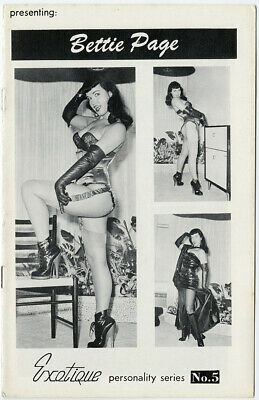 Rare 1950s Presenting Bettie Page Exotique Series #5 Digest Magazine All Bettie