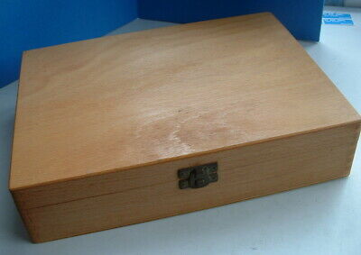 1960s WOODEN SLIDE FILM BOX with slides well made box to hold 124 slides