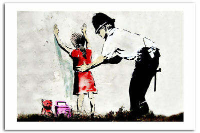LITTLE GIRL COPPER Search Banksy Art Print Posters A2 42 x