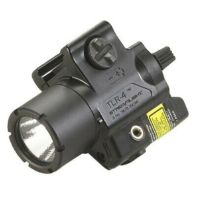 Streamlight Compact Tactical TLR-4 Gun Rail Mounted LED Flashlight w/ Laser