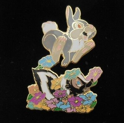 Disney Auctions ~ Thumper Jumps over Flower the Skunk from Bambi DA LE Pin