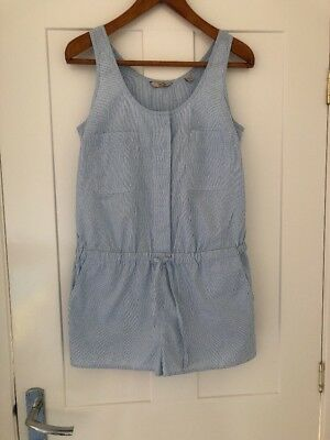 Lovely Jack Wills Blue & White Stripe Playsuit - Size 8 New