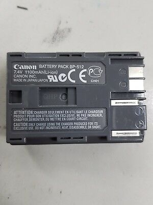 Genuine Canon BP-512 battery tested