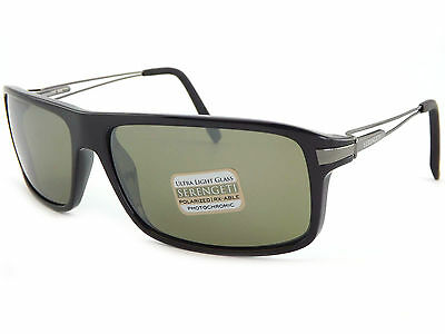 28d6b07a771e SERENGETI Polarized Photochromic Rivoli Sunglasses Shiny Black / 555 Mirror  7767