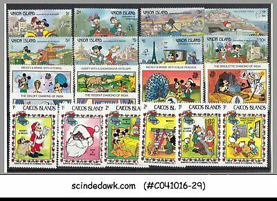 Mini Lot Of Disney Stamps Different Countries - 18V Mint Nh