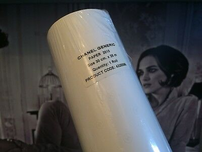 1 ROLL (30cm X 25m) CHANEL OFFICIAL WHITE CC COCO CHANEL WRAPPING PAPER 25metres