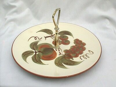 Stangl Orchard Song Snack Serving Platter Tray Center Handle