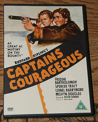 Captains Courageous 1937 Spencer Tracy Rare Oop Pressed Disc R2 Dvd Fast Post