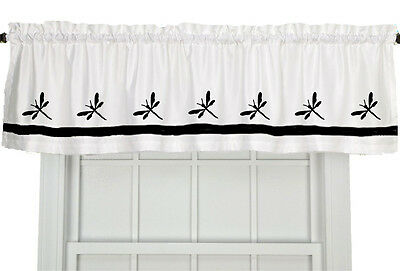 Dragonfly Bug Window Valance Curtain in Your Choice of Colors