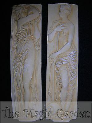 2 ancient Greek goddess wall plaques cement plaster concrete latex molds moulds