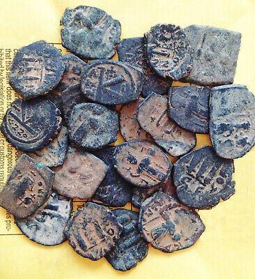 Ungraded and Uncleaned  LARGER desert Byzantine Roman Coins PER Coin buying !!