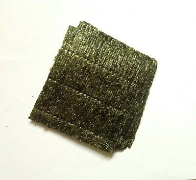 "10 Sheets dried Nori seaweed. Marine fish food. Buy 3 get 1 free. Approx 4""x4"""