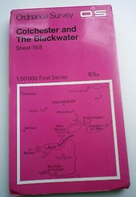 Ordnance Survey Map Sheet 168 Colchester and The Blackwater (1:50 000 Map)